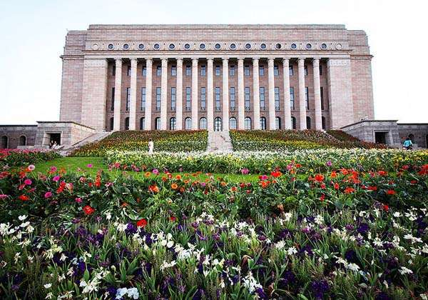 Casa del Parlamento en Helsinki