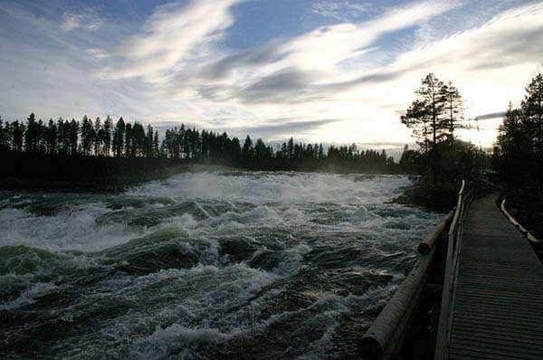 Cascadas Storforsen en Suecia