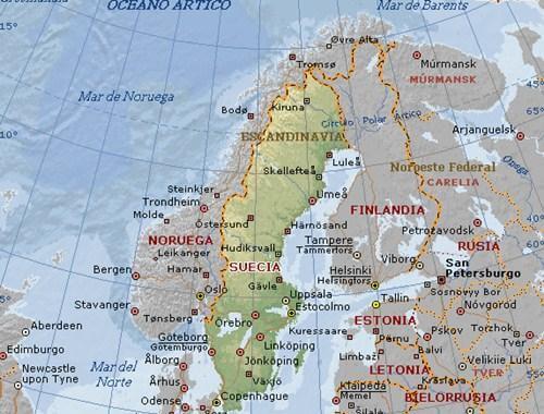 Mapa Politico De Suecia.Ciudades De Suecia Geografia Politica Viaje A Escandinavia