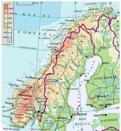 Geografía física de Noruega